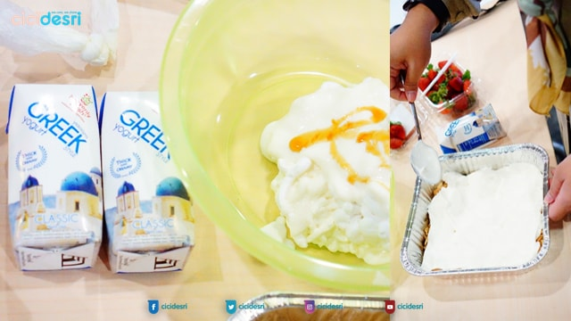 cheese cake, cooking class, lady bake cooking class, #iLottehangout, iLotte, iStyle, Lottemart, Lotte Shopping Avenue, Indo Lotte, bahan-bahan cheese cake, resep cheese cake, cheese cake anti gagal, menu sehat, cheese cake yogurt