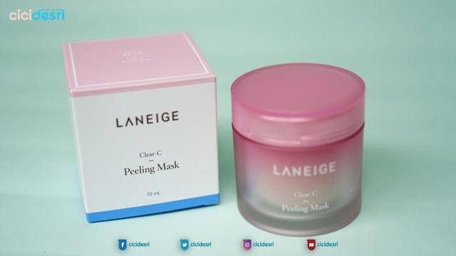 laneige clear c peeling mask, peeling mask, laniege review, harga laneige peeling mask, cara pakai laneige clear c peeling mask