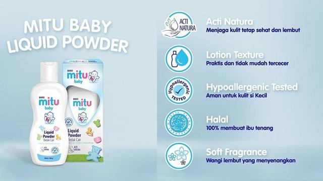mitu baby liquid powder, liquid powder mitu, bedak cair mitu, bedak cair murah bagus, mitu baby bedak cair, harga mitu bedak cair
