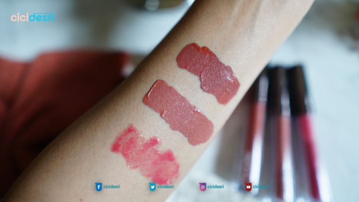 swatches shade looke lip creme