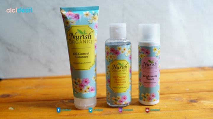 rangkaian produk nurish organiq skincare