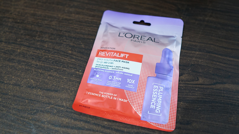 masker untuk menghilangkan bruntusan, L'oreal Paris Revitalift Pro-Youth Face Mask – Plumping Essence