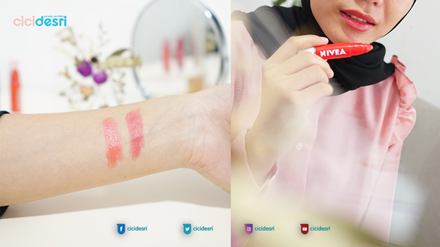 nivea lip crayon coral crush shade