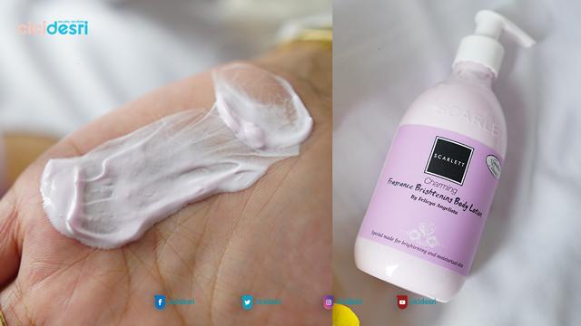 shower scrub, body lotion scarlett