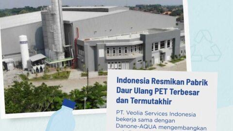 danone, aqua, pabrik daur ulang plastik, daur ulang botol plastik, botol plastik pet