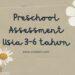 preschool assessment, home schooling, kurikulum rumah, lesson plan rumah